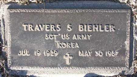 BIEHLER, TRAVERS S   (VETERAN KOR) - Reno County, Kansas | TRAVERS S   (VETERAN KOR) BIEHLER - Kansas Gravestone Photos