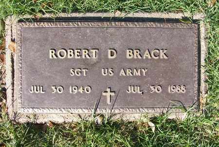 BRACK, ROBERT D  (VETERAN) - Reno County, Kansas | ROBERT D  (VETERAN) BRACK - Kansas Gravestone Photos