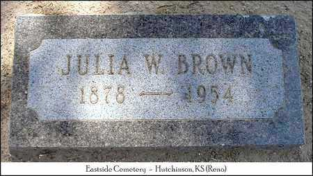 BROWN, JULIA - Reno County, Kansas | JULIA BROWN - Kansas Gravestone Photos