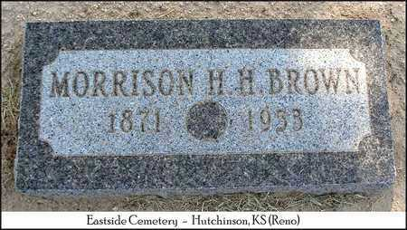 "BROWN, MORRISON H  H  ""MORRIE"" - Reno County, Kansas 