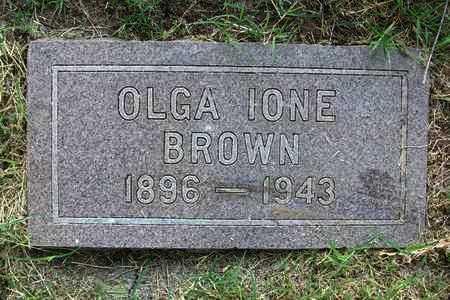 BROWN, OLGA IONE - Reno County, Kansas   OLGA IONE BROWN - Kansas Gravestone Photos