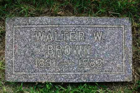 BROWN, WALTER W - Reno County, Kansas | WALTER W BROWN - Kansas Gravestone Photos