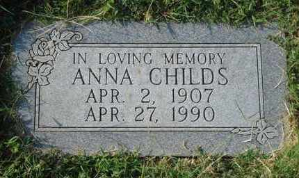 CHILDS, ANNA - Reno County, Kansas | ANNA CHILDS - Kansas Gravestone Photos