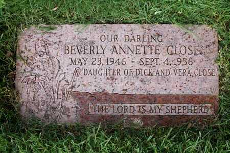 CLOSE, BEVERLY ANN - Reno County, Kansas | BEVERLY ANN CLOSE - Kansas Gravestone Photos