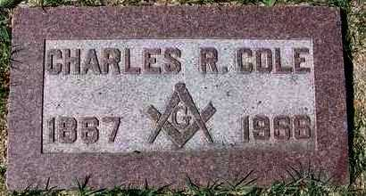 COLE, CHARLES ROBERT - Reno County, Kansas | CHARLES ROBERT COLE - Kansas Gravestone Photos