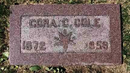 BARKER COLE, CORA CORNELIA - Reno County, Kansas   CORA CORNELIA BARKER COLE - Kansas Gravestone Photos