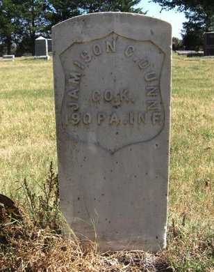 DUNN, JAMISON C   (VETERAN UNION) - Reno County, Kansas | JAMISON C   (VETERAN UNION) DUNN - Kansas Gravestone Photos