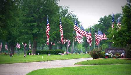 *FLAGS, PENWELL-GABEL MEMORAIAL PARK - Reno County, Kansas | PENWELL-GABEL MEMORAIAL PARK *FLAGS - Kansas Gravestone Photos