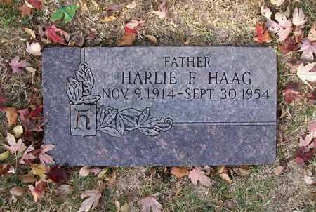 HAAG, HARLIE F - Reno County, Kansas | HARLIE F HAAG - Kansas Gravestone Photos