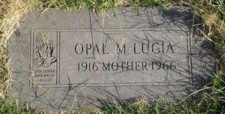LUCIA, OPAL M - Reno County, Kansas | OPAL M LUCIA - Kansas Gravestone Photos