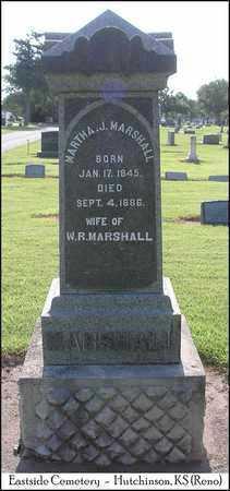 SHAFER MARSHALL, MARTHA J - Reno County, Kansas | MARTHA J SHAFER MARSHALL - Kansas Gravestone Photos
