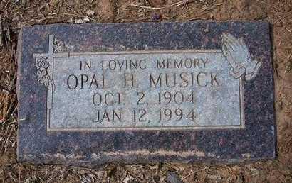 MUSICK, OPAL HELENA - Reno County, Kansas | OPAL HELENA MUSICK - Kansas Gravestone Photos