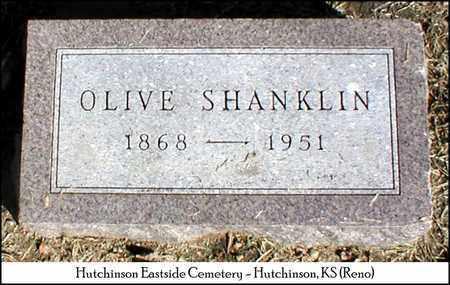 SHANKLIN, OLIVE - Reno County, Kansas | OLIVE SHANKLIN - Kansas Gravestone Photos