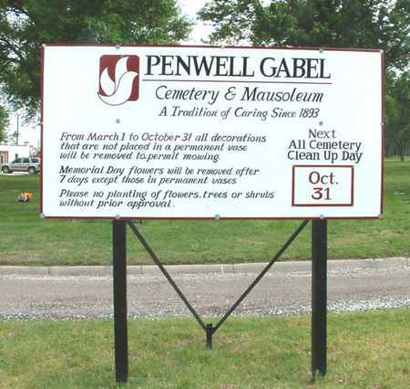 *SIGN, PENWELL-GABEL MEMORAIAL PARK - Reno County, Kansas | PENWELL-GABEL MEMORAIAL PARK *SIGN - Kansas Gravestone Photos