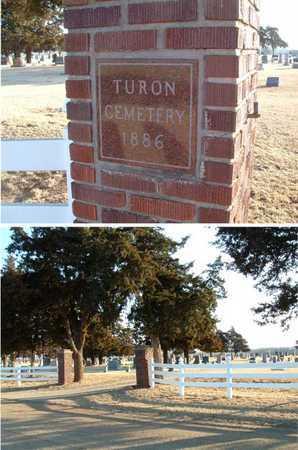 *SIGN AND ENTRANCE, TURON CEMETERY - Reno County, Kansas   TURON CEMETERY *SIGN AND ENTRANCE - Kansas Gravestone Photos