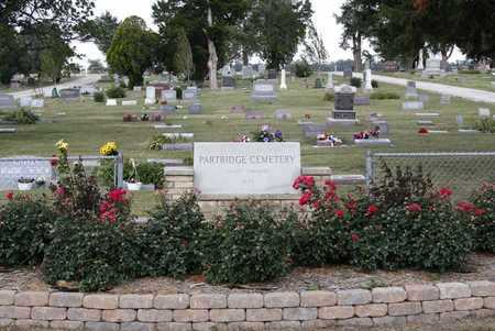 *SIGN AND OVERVIEW, PARTRIDGE CEMETERY - Reno County, Kansas   PARTRIDGE CEMETERY *SIGN AND OVERVIEW - Kansas Gravestone Photos