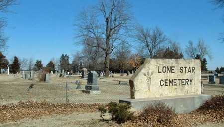*SIGN AND OVERVIEW, LONE STAR CEMETERY - Reno County, Kansas | LONE STAR CEMETERY *SIGN AND OVERVIEW - Kansas Gravestone Photos