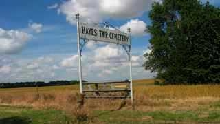 *SIGN AND OVERVIEW, HAYES TOWNSHIP CEMETERY - Reno County, Kansas | HAYES TOWNSHIP CEMETERY *SIGN AND OVERVIEW - Kansas Gravestone Photos