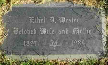 WESTER, ETHEL B - Reno County, Kansas | ETHEL B WESTER - Kansas Gravestone Photos