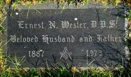 WESTER, ERNEST, DDS - Reno County, Kansas | ERNEST, DDS WESTER - Kansas Gravestone Photos