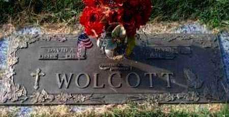 WOLCOTT, DAVID  A  (VETERAN) - Reno County, Kansas | DAVID  A  (VETERAN) WOLCOTT - Kansas Gravestone Photos