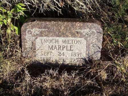 MARPLE, ENOCH MILTON - Republic County, Kansas | ENOCH MILTON MARPLE - Kansas Gravestone Photos
