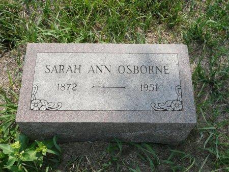 OSBORNE, SARAH ANN - Republic County, Kansas   SARAH ANN OSBORNE - Kansas Gravestone Photos