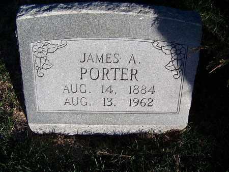 PORTER, JAMES A - Republic County, Kansas   JAMES A PORTER - Kansas Gravestone Photos