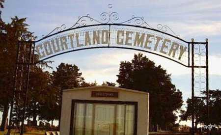 * ENTRANCE SIGN, CORTLAND CEMETERY - Republic County, Kansas | CORTLAND CEMETERY * ENTRANCE SIGN - Kansas Gravestone Photos