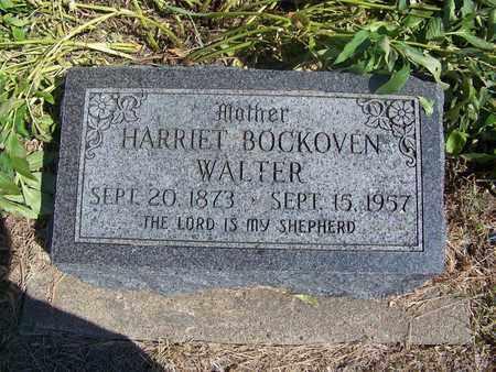 BOCKOVEN WALTER, HARRIET - Republic County, Kansas | HARRIET BOCKOVEN WALTER - Kansas Gravestone Photos