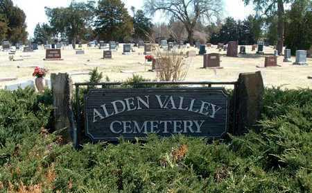 *ENTRANCE SIGN, ALDEN VALLEY CEMETERY - Rice County, Kansas | ALDEN VALLEY CEMETERY *ENTRANCE SIGN - Kansas Gravestone Photos