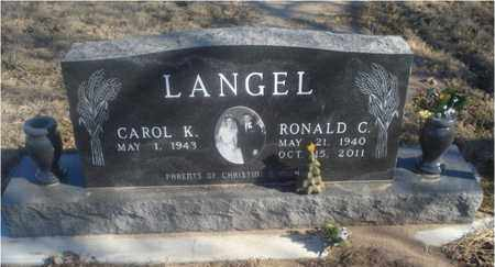 LANGEL, RONALD C  (VETERAN) - Rice County, Kansas | RONALD C  (VETERAN) LANGEL - Kansas Gravestone Photos