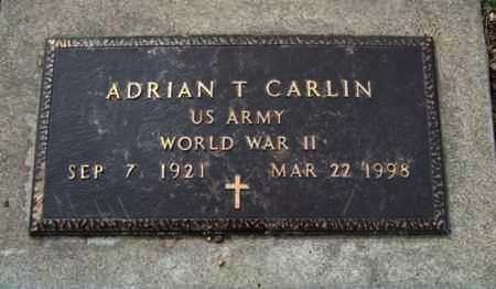 CARLIN, ADRIAN THOMAS  (VETERAN WWII) - Riley County, Kansas   ADRIAN THOMAS  (VETERAN WWII) CARLIN - Kansas Gravestone Photos