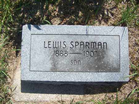 SPARMAN, LEWIS - Riley County, Kansas | LEWIS SPARMAN - Kansas Gravestone Photos