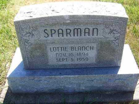 SPARMAN, LOTTIE BLANCH - Riley County, Kansas | LOTTIE BLANCH SPARMAN - Kansas Gravestone Photos
