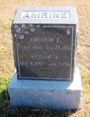 AMRINE, ANDREW E - Rush County, Kansas | ANDREW E AMRINE - Kansas Gravestone Photos