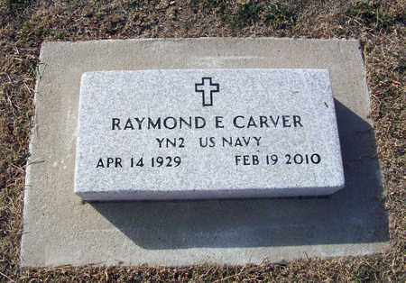 CARVER, RAYMOND E  (VETERAN) - Rush County, Kansas   RAYMOND E  (VETERAN) CARVER - Kansas Gravestone Photos