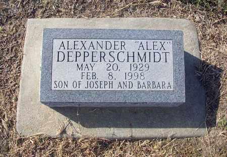 """DEPPERSCHMIDT, ALEXANDER """"ALEX"""" - Rush County, Kansas   ALEXANDER """"ALEX"""" DEPPERSCHMIDT - Kansas Gravestone Photos"""