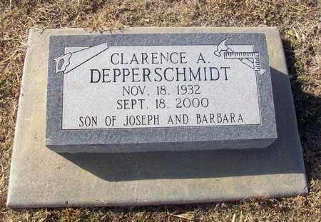 DEPPERSCHMIDT, CLARENCE A - Rush County, Kansas   CLARENCE A DEPPERSCHMIDT - Kansas Gravestone Photos