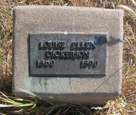 DICKERSON, LOUISE ELLEN - Rush County, Kansas | LOUISE ELLEN DICKERSON - Kansas Gravestone Photos