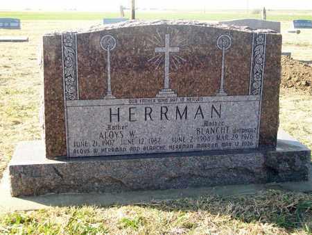 HERRMAN, ALOYS W - Rush County, Kansas | ALOYS W HERRMAN - Kansas Gravestone Photos