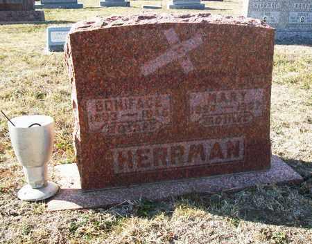 HERRMAN, BONIFACE - Rush County, Kansas | BONIFACE HERRMAN - Kansas Gravestone Photos
