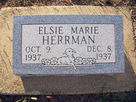 HERRMAN, ELSIE MARIE - Rush County, Kansas | ELSIE MARIE HERRMAN - Kansas Gravestone Photos