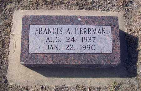 HERRMAN, FRANCIS A - Rush County, Kansas | FRANCIS A HERRMAN - Kansas Gravestone Photos