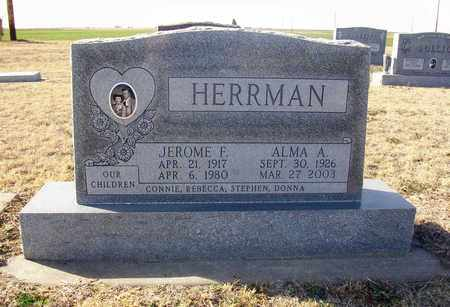 HERRMAN, JEROME F - Rush County, Kansas | JEROME F HERRMAN - Kansas Gravestone Photos