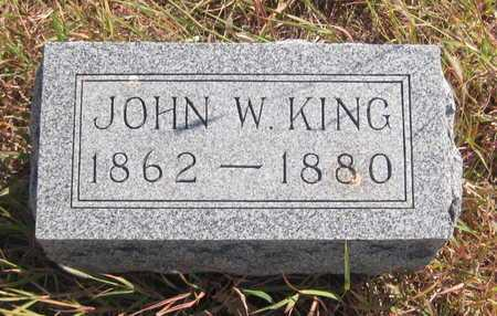KING, JOHN W - Rush County, Kansas | JOHN W KING - Kansas Gravestone Photos