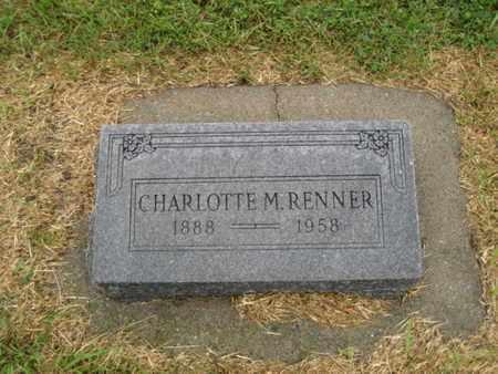RENNER, CHARLOTTE MARY - Rush County, Kansas | CHARLOTTE MARY RENNER - Kansas Gravestone Photos