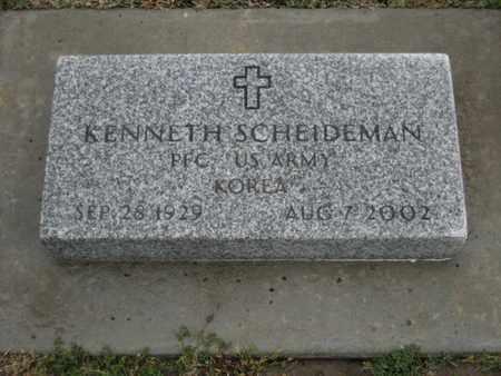 "SCHEIDEMAN, KENNETH ""BEN""  (VETERAN KOR) - Rush County, Kansas | KENNETH ""BEN""  (VETERAN KOR) SCHEIDEMAN - Kansas Gravestone Photos"