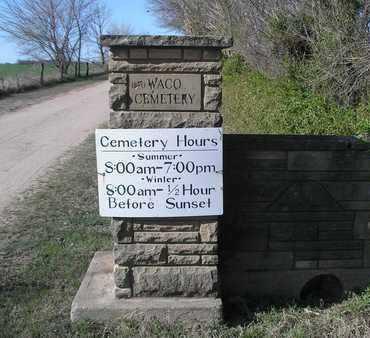 *CEMETERY SIGN,  - Sedgwick County, Kansas |  *CEMETERY SIGN - Kansas Gravestone Photos