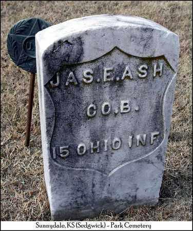 ASH, JAMES E   (VETERAN UNION) - Sedgwick County, Kansas | JAMES E   (VETERAN UNION) ASH - Kansas Gravestone Photos